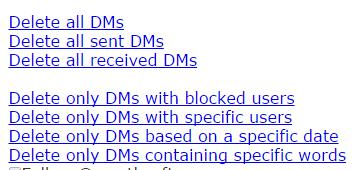 Bulk Delete Twitter Dms