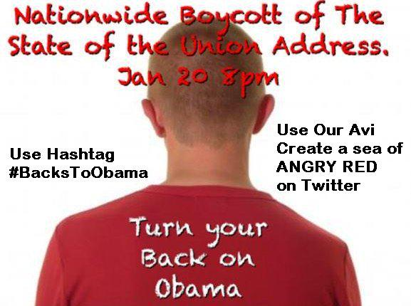 #StateOfTheUnionInThreeWords  DON'T WATCH IT!   #BacksToObama  Please take a brief moment 2 join the cause → TY! http://t.co/s48PsklOPx