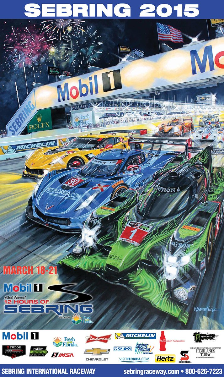 sebring raceway on twitter sebring 39 s 2015 poster. Black Bedroom Furniture Sets. Home Design Ideas