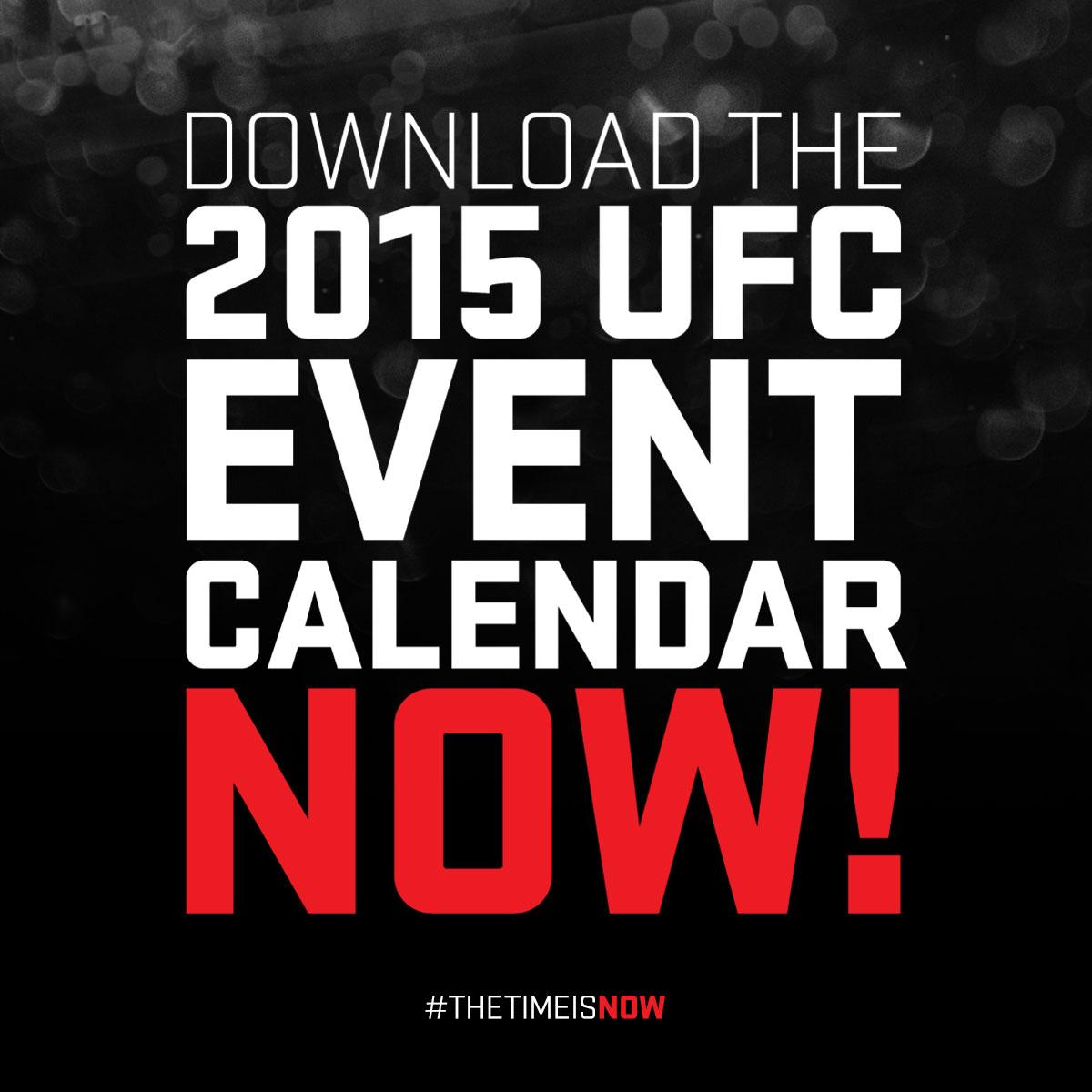 "ufc on twitter: ""have you added the 2015 ufc event schedule to your"