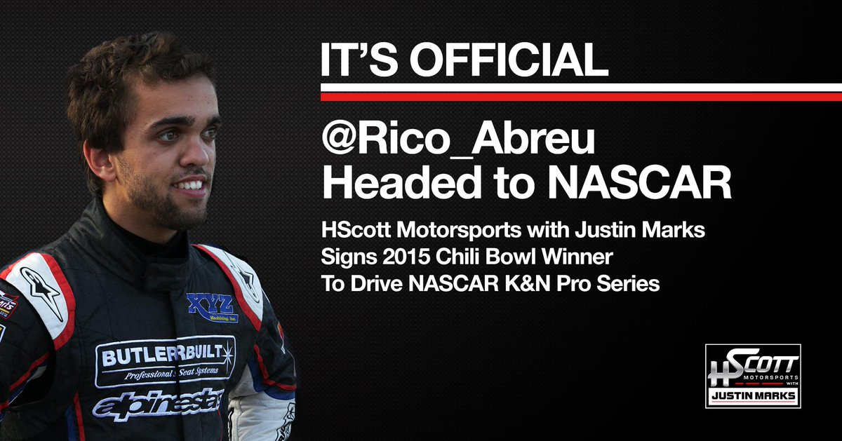 It's official! RT @SpireSportsInc: .@Rico_Abreu joins HScott Motorsports with Justin Marks for 2015 #KNEast. http://t.co/sTfKOCPOsI
