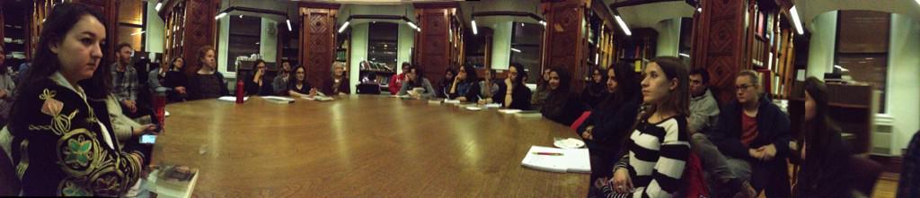 #morningsinjenin discussion at @McGillU #lap1book #Palestine http://t.co/mXdJUfG6yO