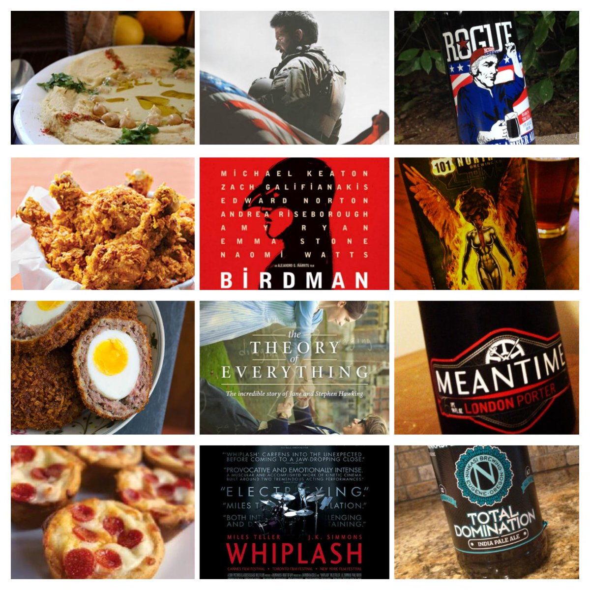 Oscars + Food + Beer Pairings to this years Oscar noms! http://t.co/BAML871nNt #craftbeer #oscarparty http://t.co/jLB8wy7xa1