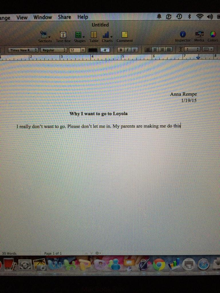 Somethings wrong with this essay so far...?