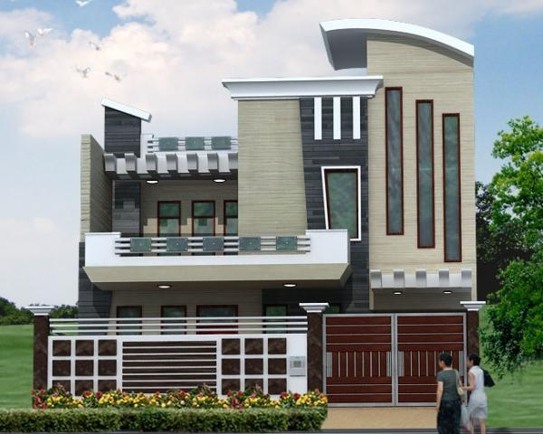 Indian model houses elevation