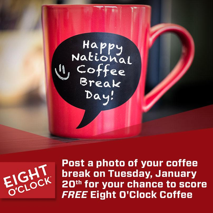Tweet us a photo of your coffee break & we'll pick 10 fans for free coffee! c[_] #NationalCoffeeBreakDay http://t.co/saLytSThj0