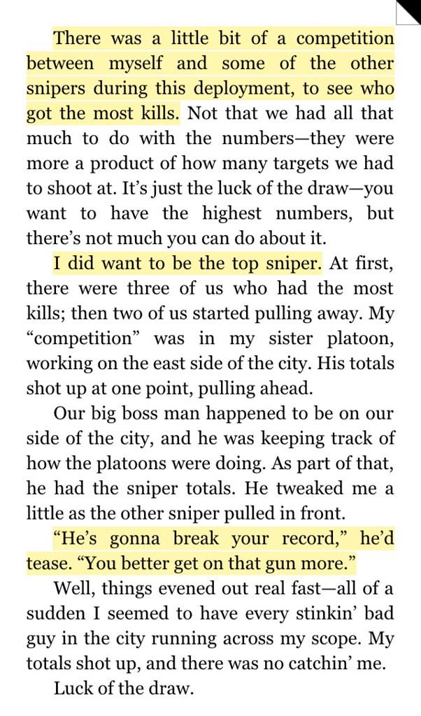 """""""There was a competition between myself & some other snipers 2 see who got the most kills"""" #AmericanSniper Chris Kyle http://t.co/lRhF2OlnnK"""