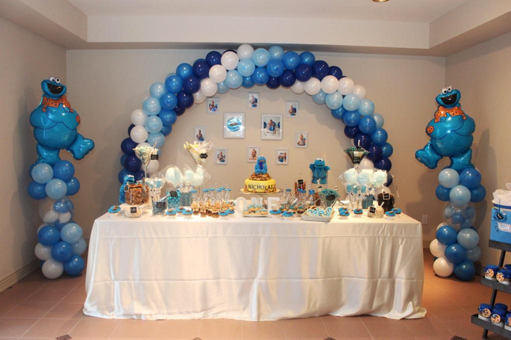 Cookie Monster Birthday Decorations House Cookies