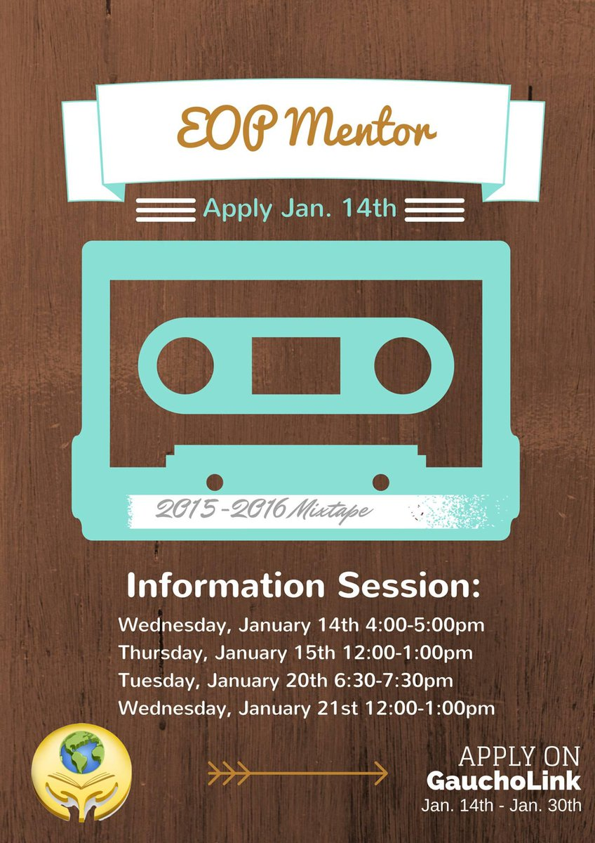 UCSB EOP On Twitter Is Hiring Check Out Our Informational Today SRB MPR 630 730pm We Look Forward To Receiving Your Application