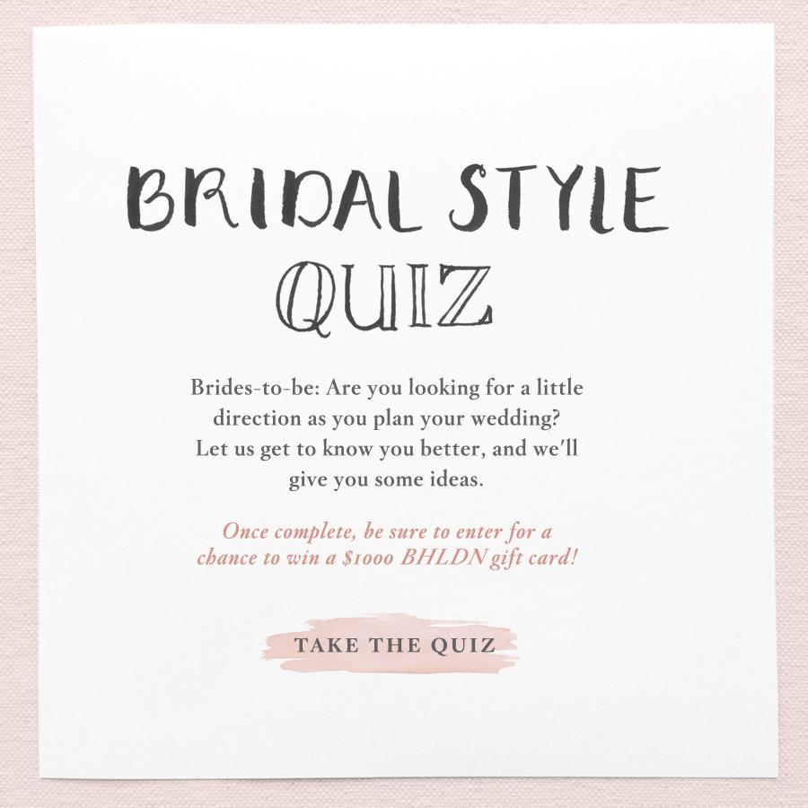 Bhldn Weddings On Twitter Take Our Bridal Style Quiz For A Chance