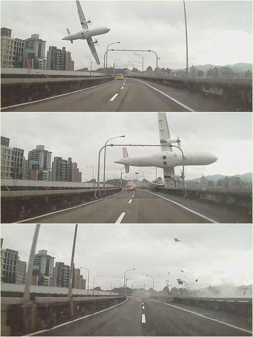台北松山発金門行きの復興航空トランスアジア航空機が基隆で墜落! pic.twitter.com/TdEONji0FS
