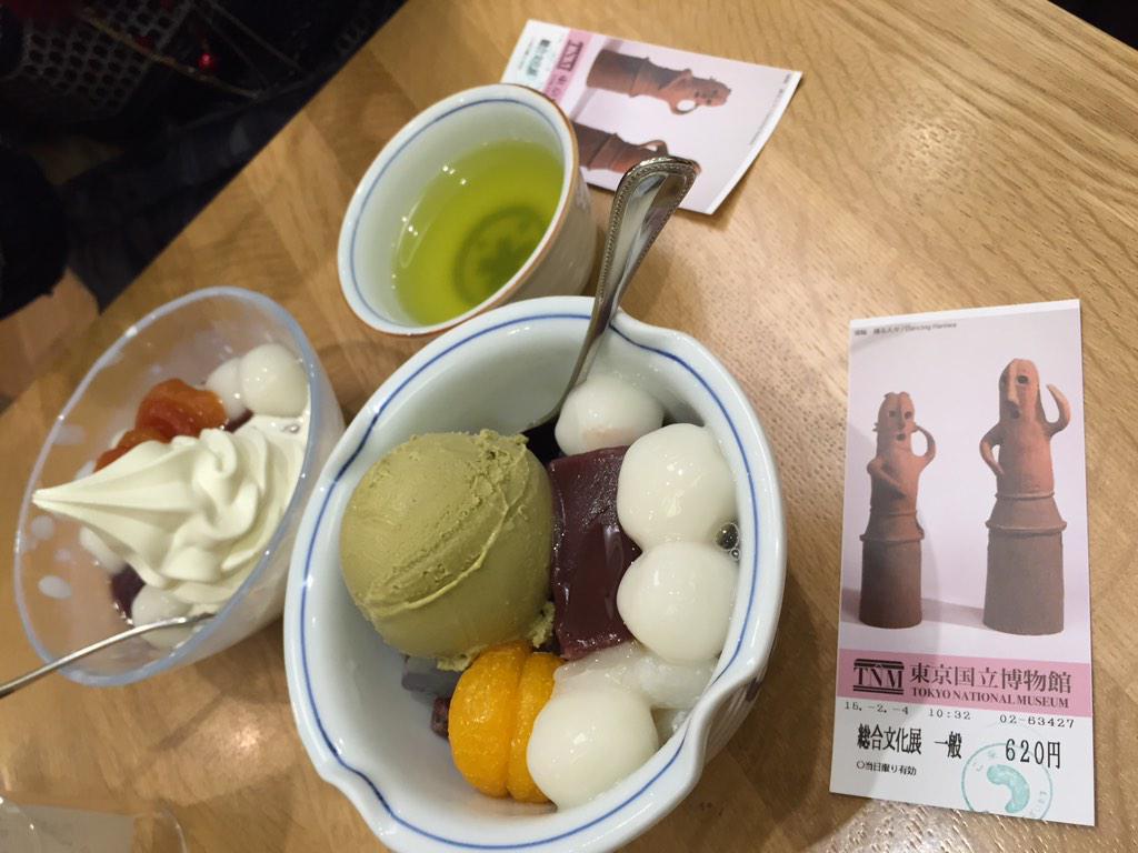 審神者の皆さーん!東京博物館で刀剣を見に行ったら「みはし」で和スウィーツ食べましょう( ´ ▽ ` )ノチケット見せるとトッピングサービスしてくれますよ! http://t.co/1ELHrirTI7