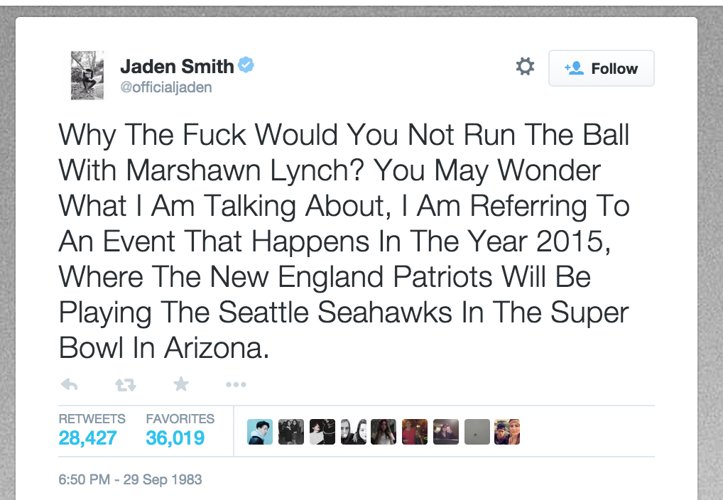 This is the best part of the night easily RT @samir: Jaden Smith predicted this back in 1983 http://t.co/HTiuaWmNHh