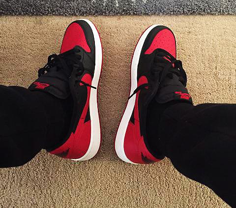 06c9ea4f8fa157 Air Jordan 1 Low Bred On Feet ukpinefurniture.co.uk