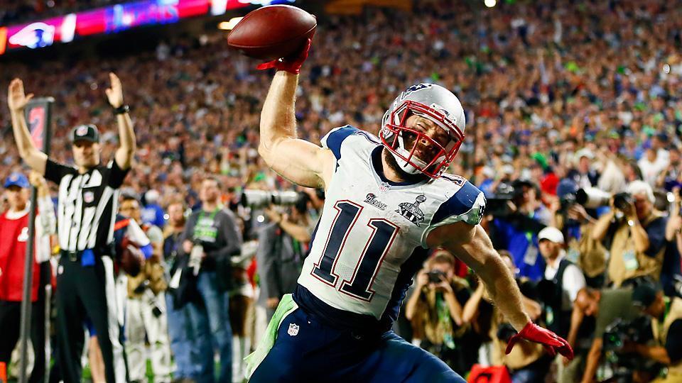 Julian Edelman celebrates his game-winning touchdown in Super Bowl XLIX (@SInow/Twitter)