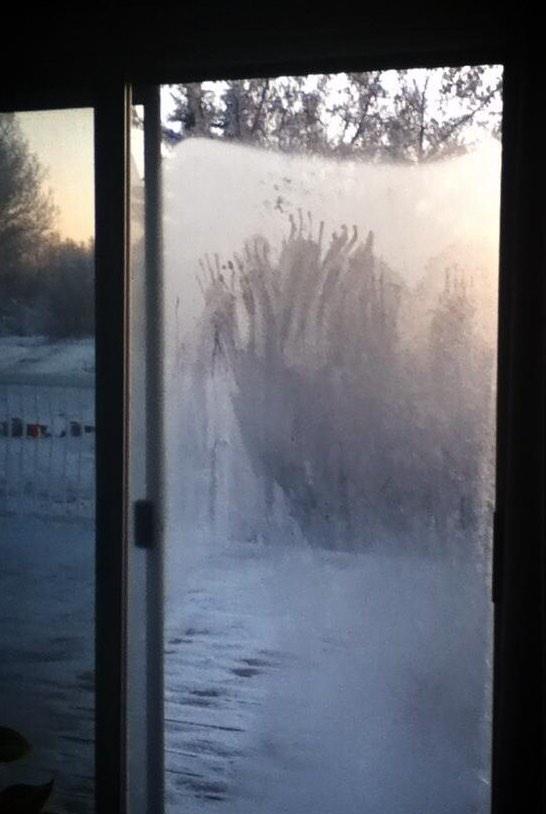 Unexplained Mysteries | Scary Hand Marks Left On Window After Blizzard