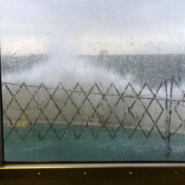 Front of ferry like a carwash this morning. Glad Staten Island Chuck didn't have to see this. http://t.co/PtIW4g9adV