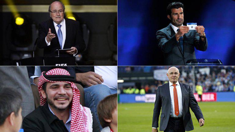 Candidatos às eleições presidenciais da FIFA.