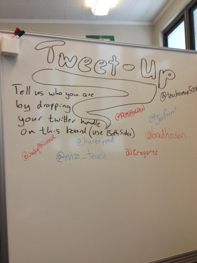 Side two of the #edcampdenver Twitter board. http://t.co/OQsVDtBNfX