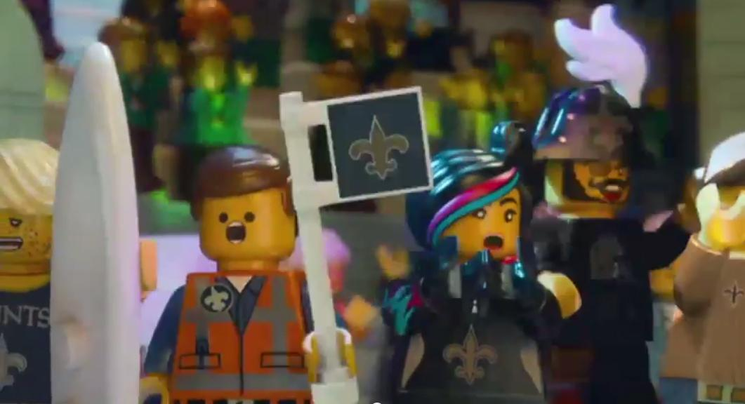 "New Orleans Saints on Twitter: ""LEGO #Saints support #SuperBowlRally ..."