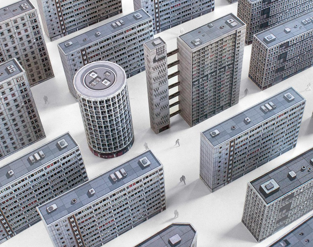 Brutal London, a collection of paper cut-out models representing brutalist architecture http://t.co/FX1d86SFE9 http://t.co/DSZvS0WwpT