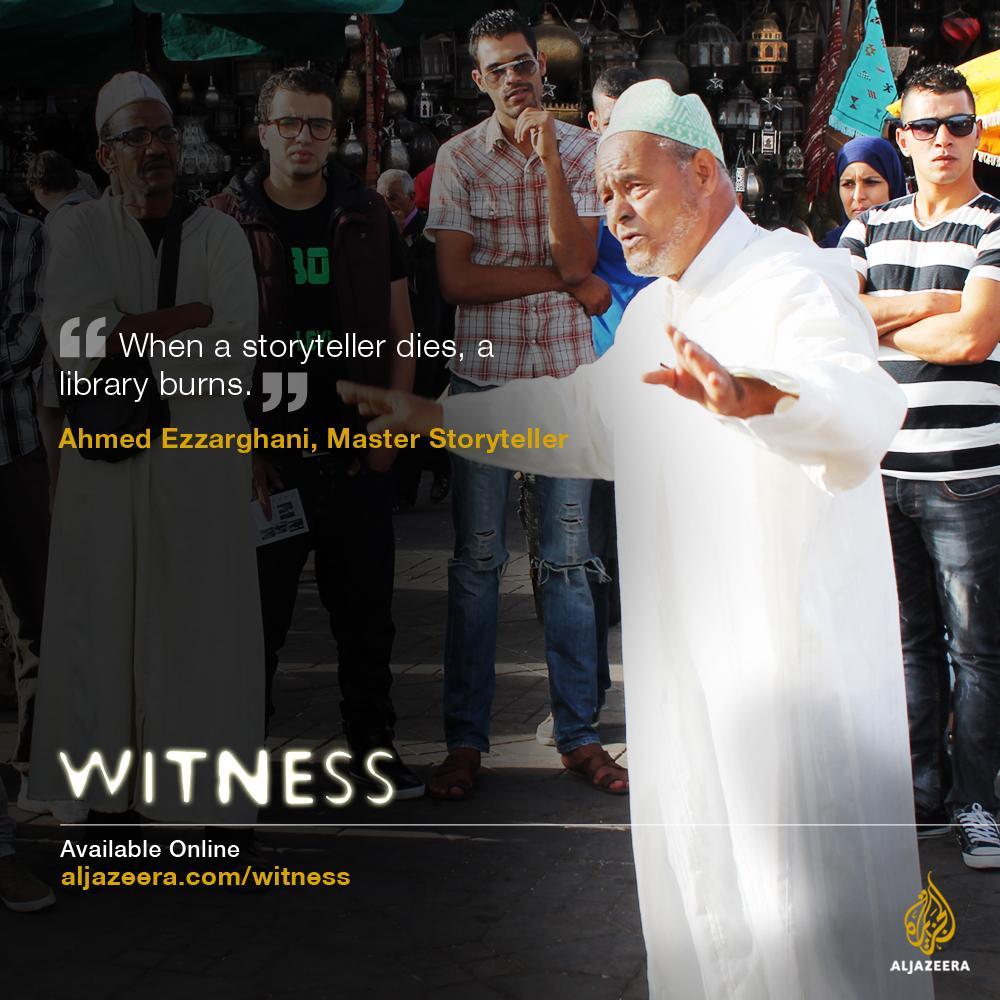 """""""When a storyteller dies, a Library burns"""" - Hajj Ahmed Ezzarghani, Master Storyteller. http://t.co/wgl1skd1PG"""