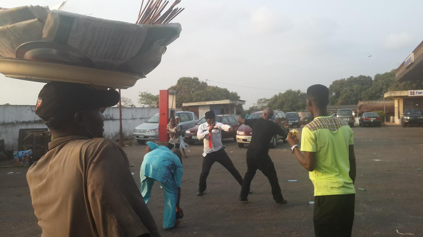 RT @bramvermeul: Now our driver is in a fist fight with another driver who cut him off on the road.?#Nigeria http://t.co/KTdqJTfhD7