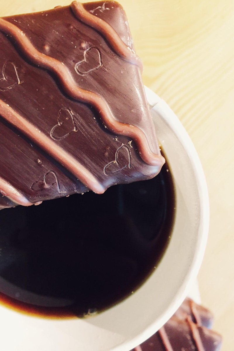 Coffee of love, lovin' on some Dark Chocolate Covered Graham Crackers ...