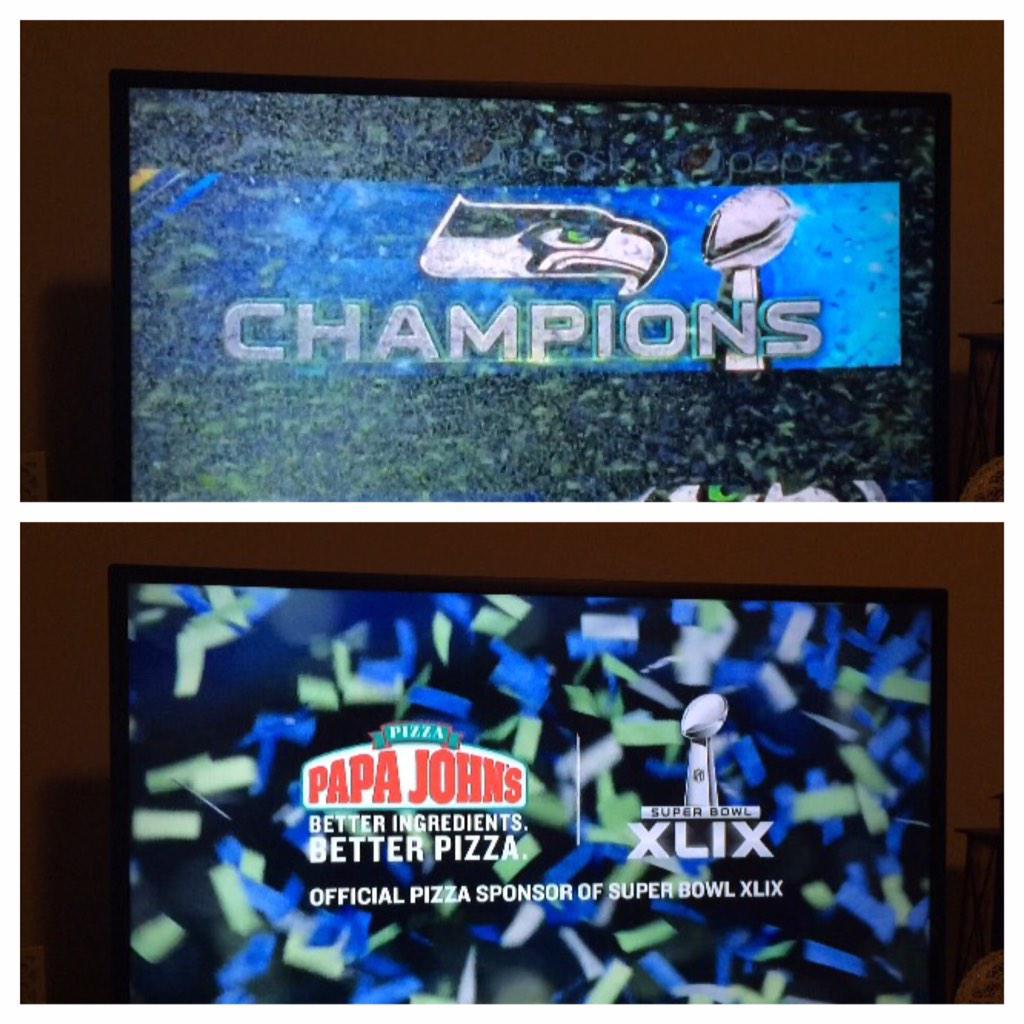 Papa John's accidentally ran commercials congratulating the Seahawks