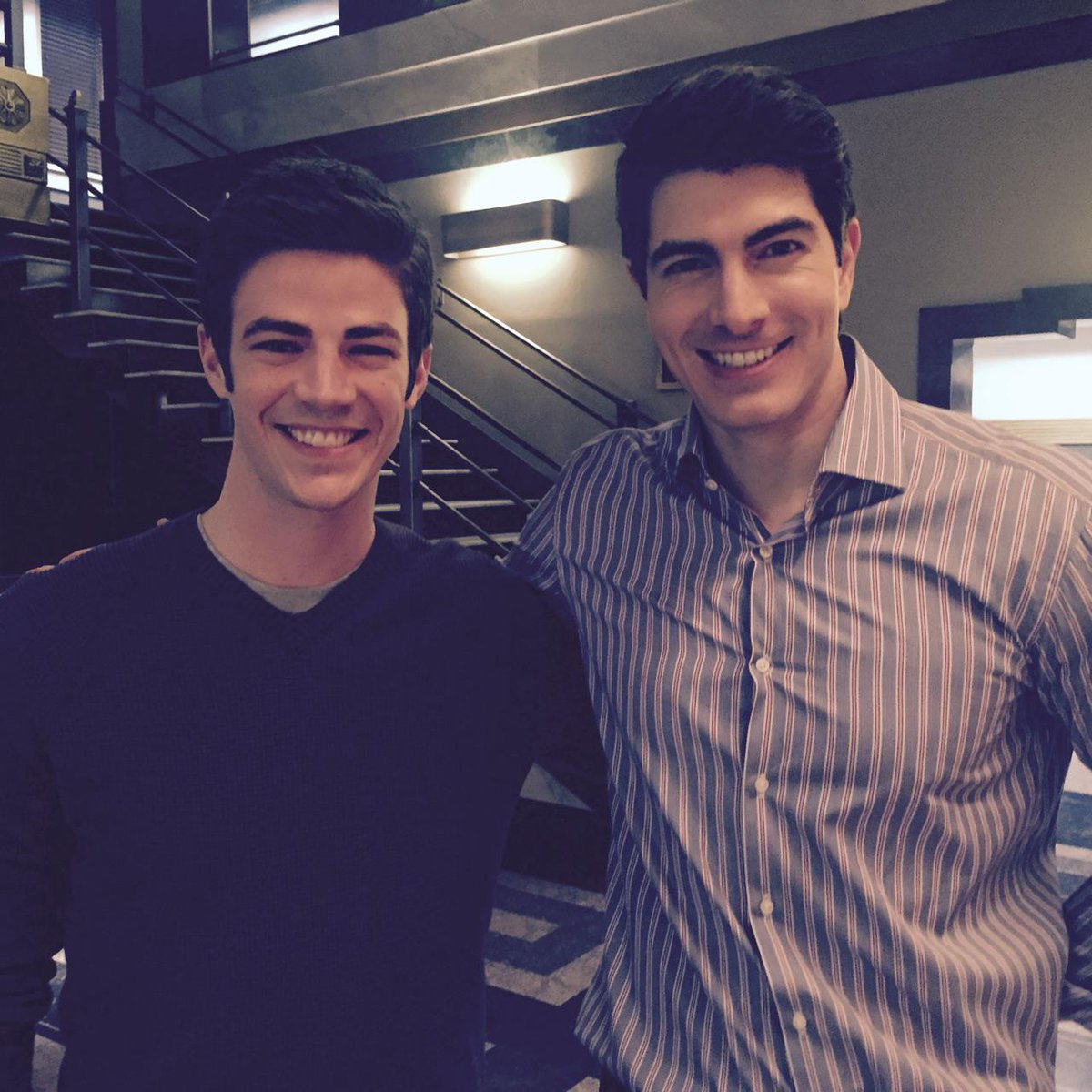 Don't worry @_CourtneyFord_ , I totally didn't tell @grantgust u think he's cute. Secrets safe with me. Yup. #BarRay http://t.co/XAVlkgxofz