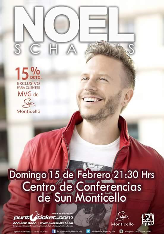 Quieres ir a un concierto intimo con tu pareja? Pues @NoelSchajris estará el 15 de Febrero en el @monticellochile! http://t.co/ZPhXIuAfTI