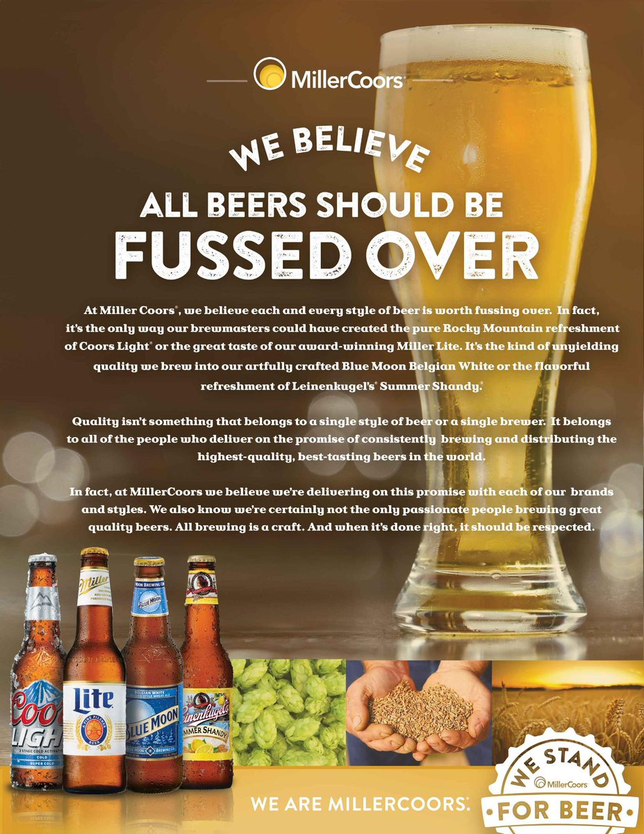 Not a bad comeback, actually. RT @beerbabe: So, this just happened. RT @MillerCoors: We stand for beer http://t.co/7IaaQtZYRD