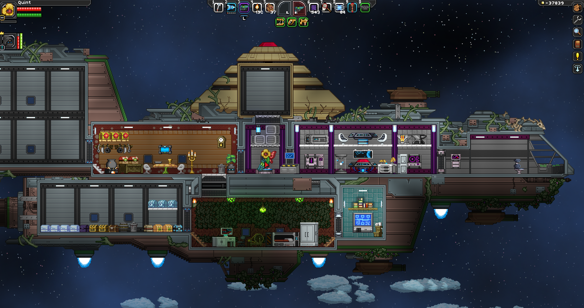 Quintessence On Twitter My Starbound Ship A Wip Floran Likesss