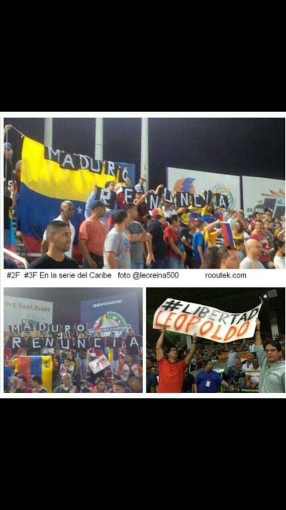 ¡Puerto Rico solidario con Venezuela! @liliantintori PR esta con ustedes. #SerieDelCaribe #LiberenALeopoldo http://t.co/8OYXcwzfyA