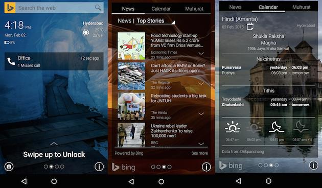 Microsoft's putting Bing on your Android lock screen