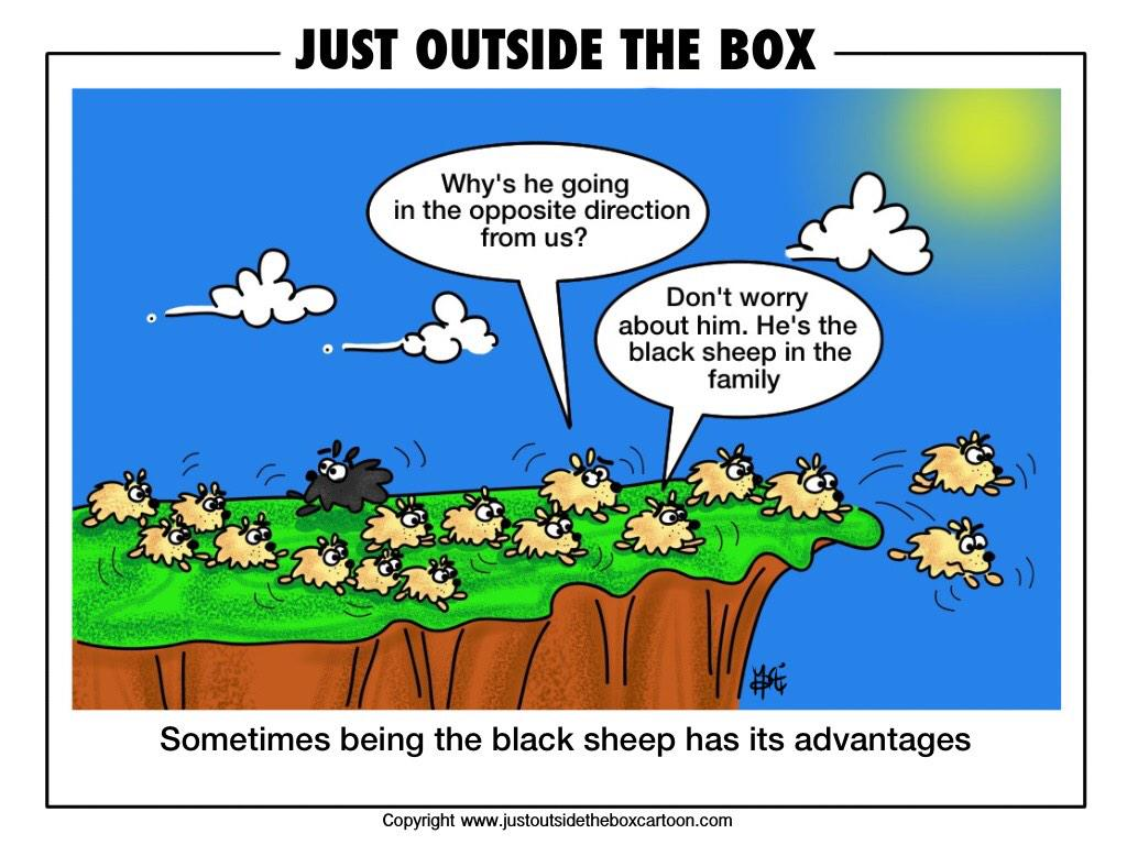 "RONALD M BAUM MD on Twitter: ""@kevinmd Doctors are like lemmings jumping off  a cliff. There need to be more black sheep in that family!!!  http://t.co/bHaaq5X4FE"""