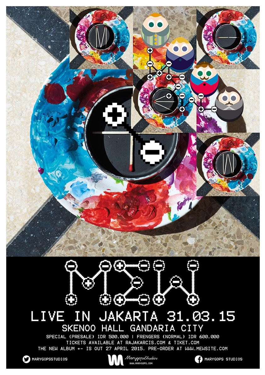 Mew will be playing Jakarta, Skenoo Hall, 31st March 2015... Tickets available on 11th February. http://t.co/LoXbu7u6l1