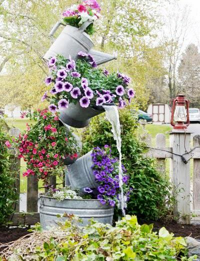 Bunches On Twitter Unusual Flower Pots 25 Watering Can Waterfall Unusual Flowerpot Flowers Bunchesuk Http T Co S2q7wn8mx0