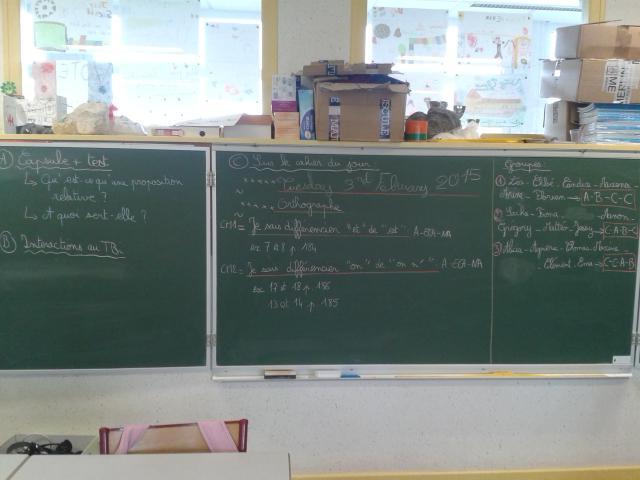 Séance de grammaire en pédagogie inversée à Humbécourt. #forumatice #EcoleNumerique http://t.co/dcHsUXb9OM