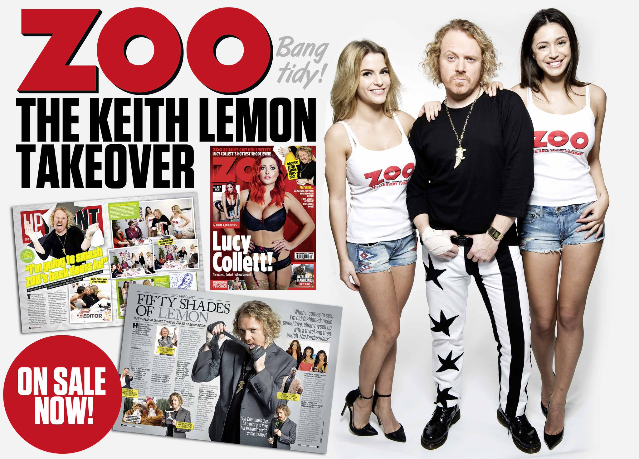 RT @ZOO: Popping out? Pick up this week's ZOO, guest-edited by @lemontwittor & starring @Lucy__Vixen! http://t.co/w7HO2dvaSi http://t.co/1q…