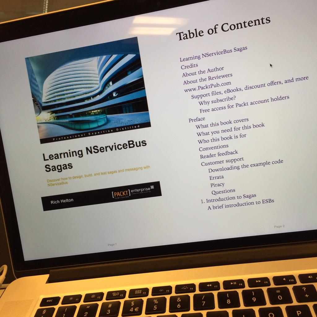 Fresh from the press «Learning NServiceBus Sagas» @PacktPub #nservicebus #fb http://t.co/CCLMs1K5Y4