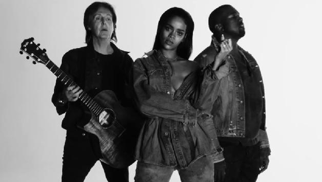Nuovo singolo Rihanna Kanye West e Paul McCartney | Video VEVO FourFiveSeconds