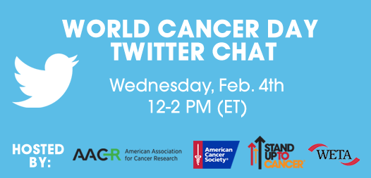 Join us for #FightWorldCancer chat—Dr. Nelson @HopkinsMedicine will tweet from our handle http://t.co/0CXziEazu2