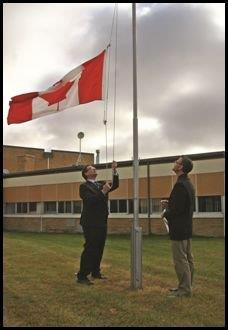 Here's one of my favourite moments with the Canadian flag. I raised it at Hope College to mark its 1st year #FLAG50 http://t.co/7g7qARnENl