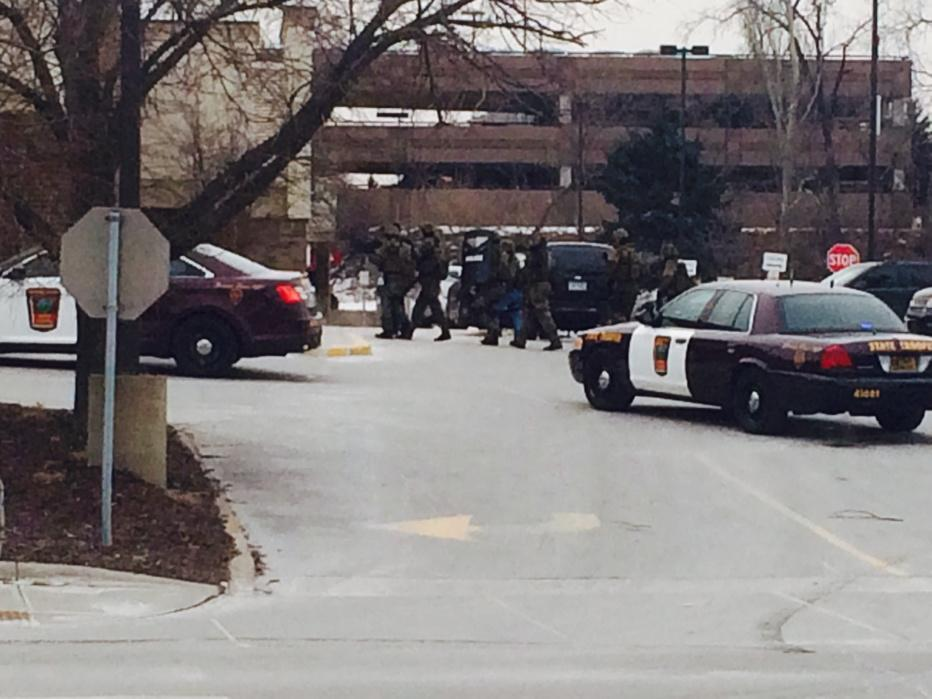 SWAT team just entered the St. Louis Park Byerly's store armed with a shield, a map and a robot. @kare11 http://t.co/tu6deNvKAh