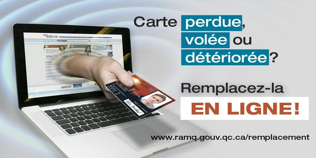 Carte Assurance Maladie Du Quebec Perdue.Ramq On Twitter Un Nouveau Service En Ligne Vous Facilite