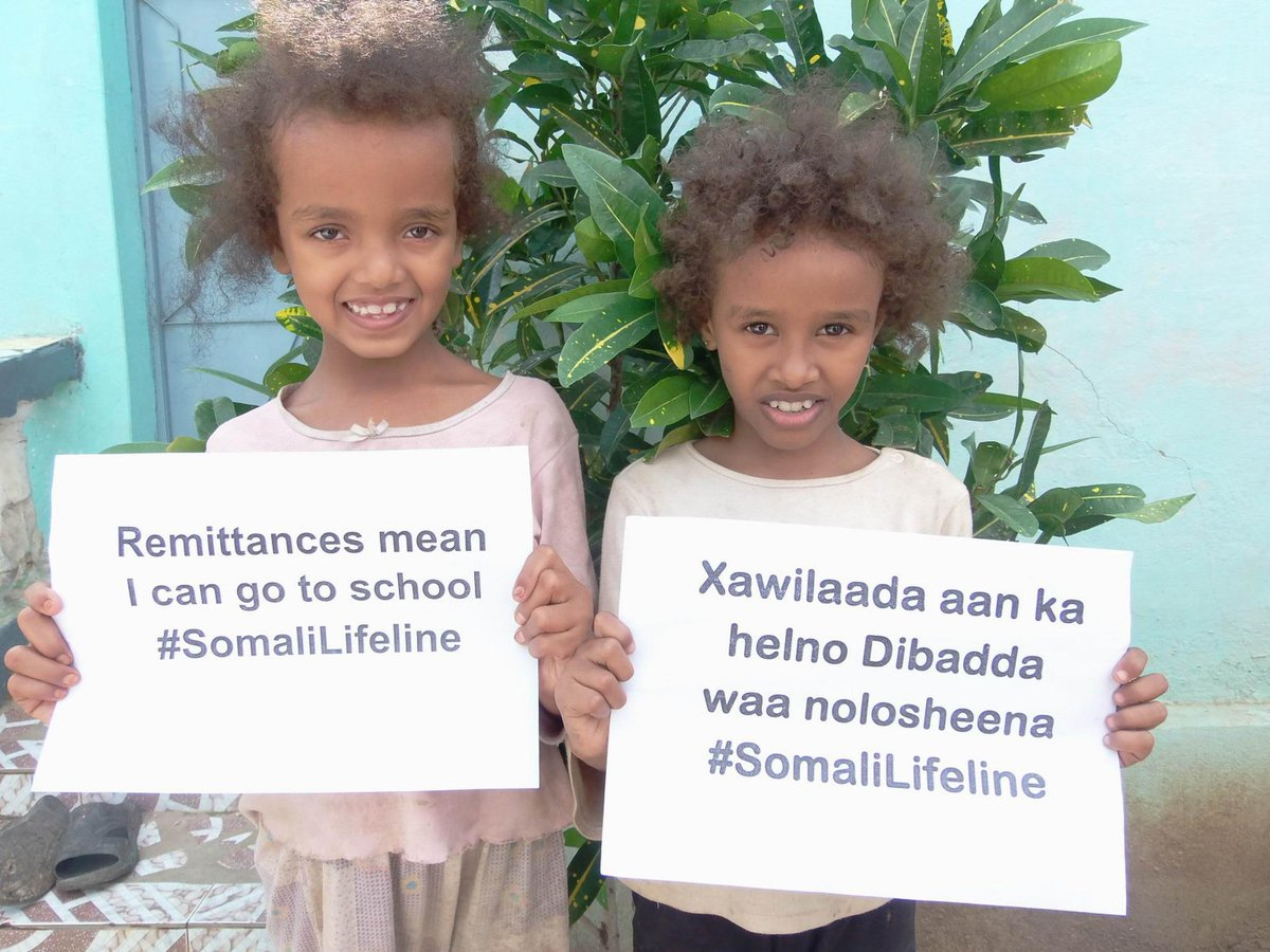 Money frm loved ones abroad helps Somalis pay for school, food, medicine. @USTreasury please save the #SomaliLifeline http://t.co/JfEazWhvGk
