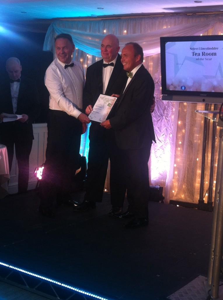 The WINNER for Tea Room of the year is @The_OldStables #LFDA15 http://t.co/m1YaxFI6nL