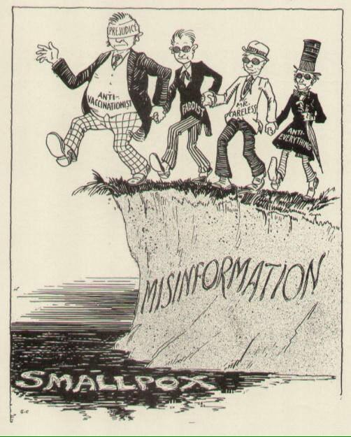 Anti-vaxxer cartoon from the 1940's. Nothing's changed. Via Reddit:  http://t.co/8b9KHhqHHf http://t.co/FWjd8ThcLb