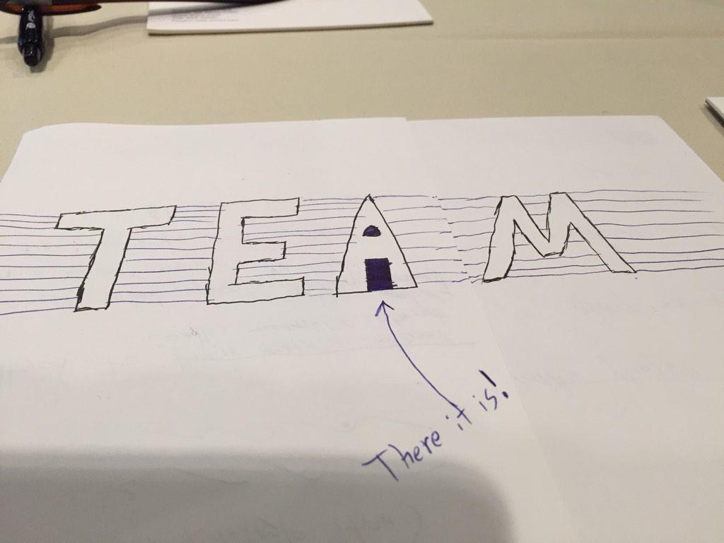 My coworker, Matt Wood, found the i in team http://t.co/ljqL6HB8iu